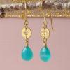 Eloise 18ct fairtrade gold ethical earrings