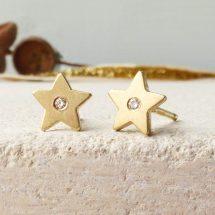 Estrellita 18ct Fairtrade Gold Stud Earrings