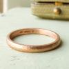 Sunna ethical wedding ring, 18ct Fairtrade gold