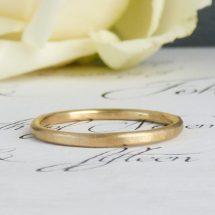 Evie ethical wedding ring, 18ct Fairtrade gold
