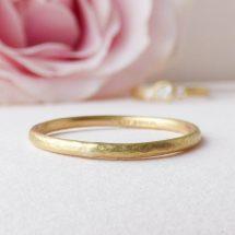 Honey ethical wedding ring, 18ct Fairtrade gold