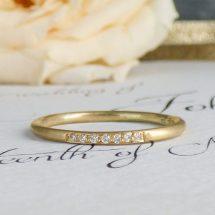 Eliza ethical wedding ring, 18ct Fairtrade gold