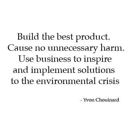 Yvon Chouinard of Patagonia Mission Statement