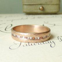 Celeste ethical wedding ring, 18ct Fairtrade gold