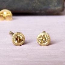 Clara Mandarin diamond ethical earrings, 18ct Fairtrade gold