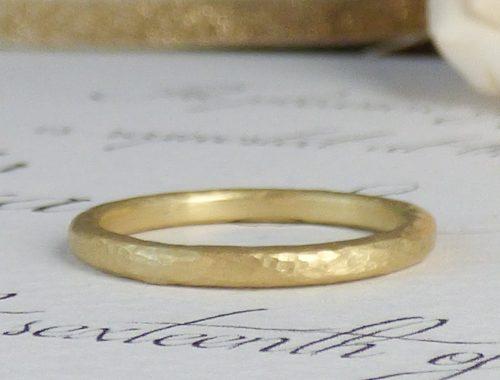 Zoe ethical wedding ring, 18ct Fairtrade gold