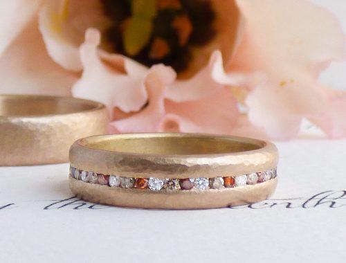 celeste ethical wedding ring in 18ct Fairtrade rose gold & diamonds