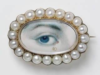 Lover's eye brooch, 1800 – 20 V&A museum