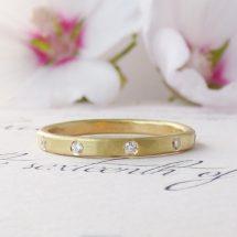 Surya Diamond ethical wedding ring, 18ct Fairtrade gold