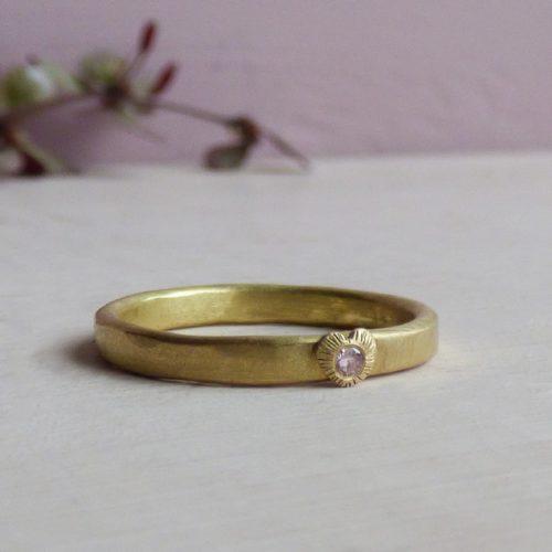 posy pink diamond heart ring