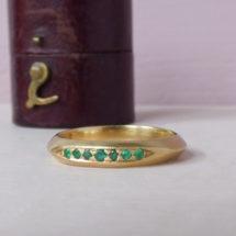 Sweet Pea emerald ethical wedding ring