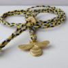 blossom bee fairtrade gold animal amulet pendant