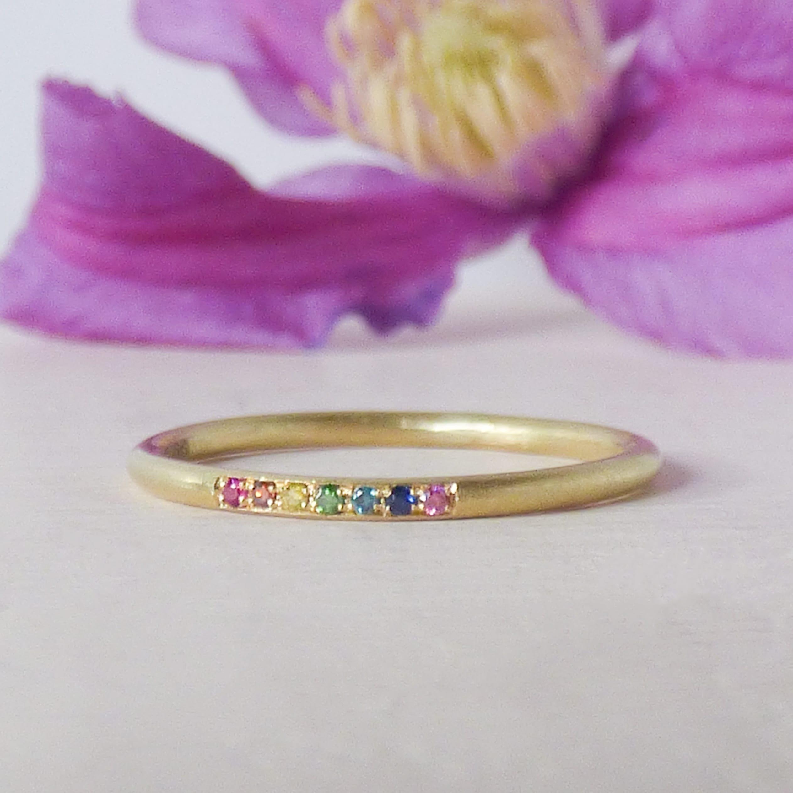 Rainbow-Eliza Ethical Wedding Ring
