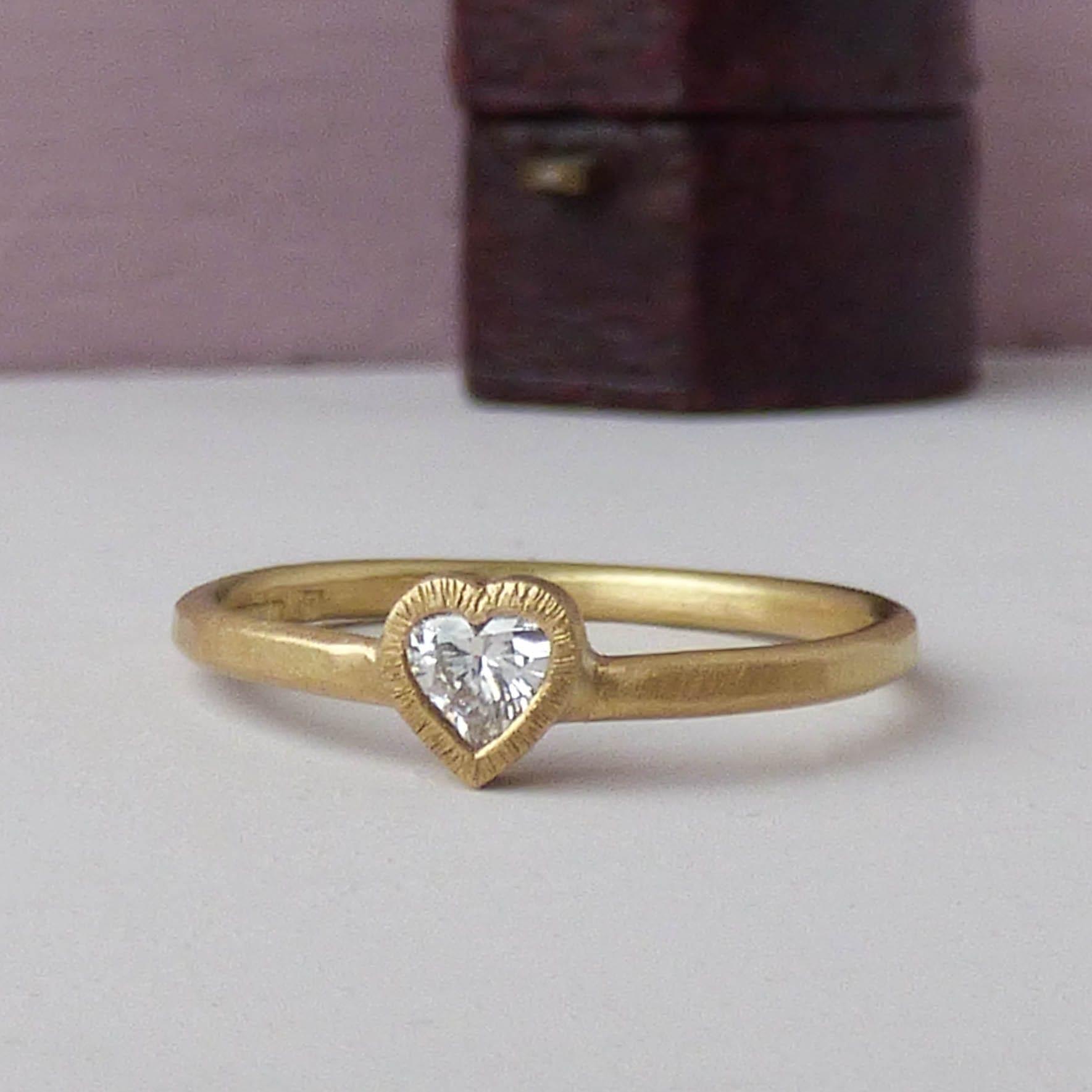 Lola ethical diamond heart engagement ring
