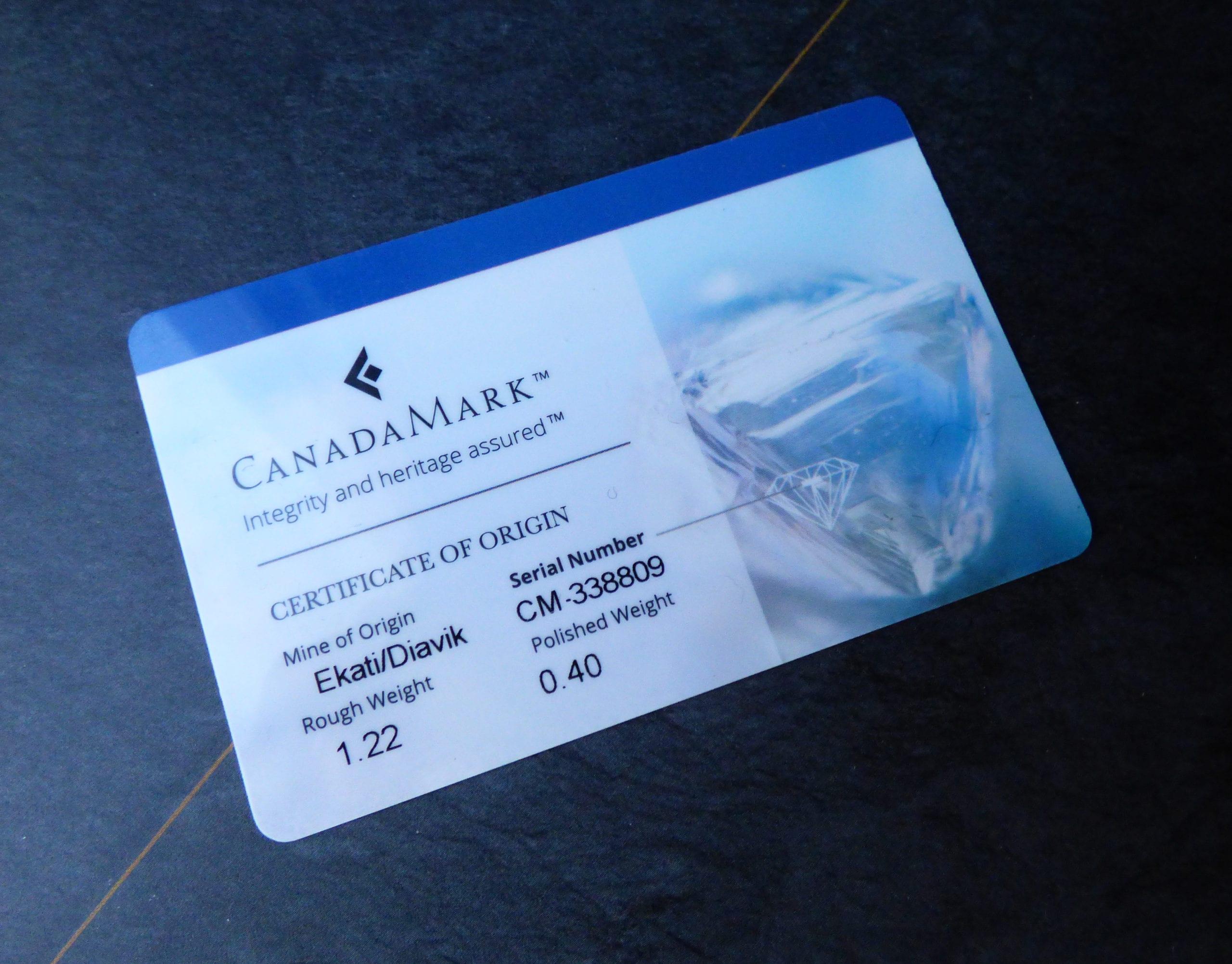 canadamark certification card